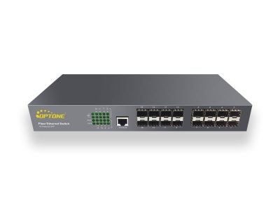 16-ports Full Gigabit L2 Unmanaged Fiber Switch (OPT-6016)